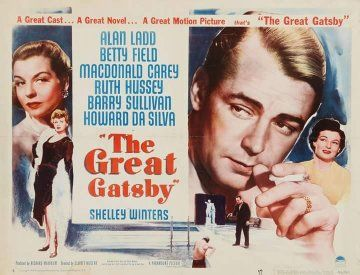 Alan Ladd, Macdonald Carey, Betty Field, and Ruth Hussey in The Great Gatsby (1949)