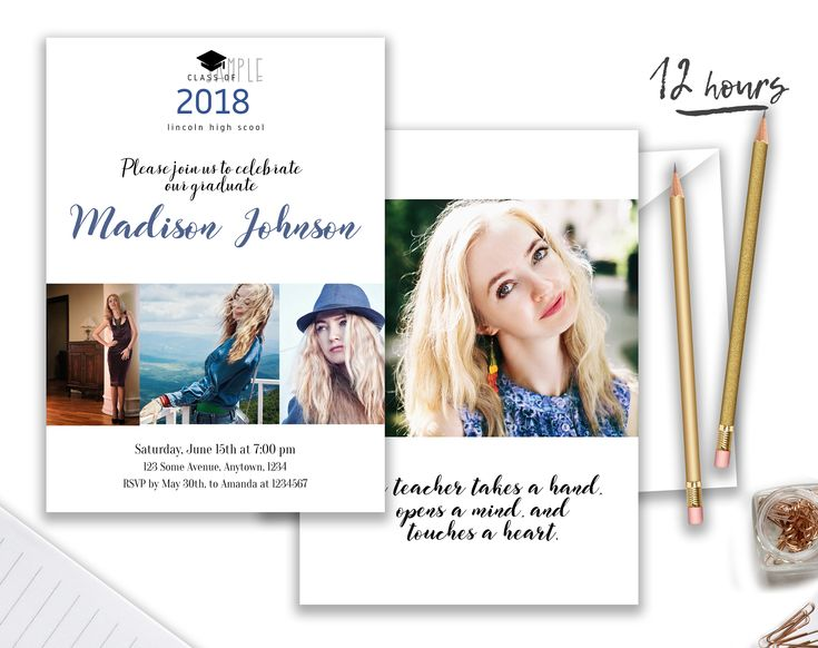 20 best Graduation invitation images on Pinterest