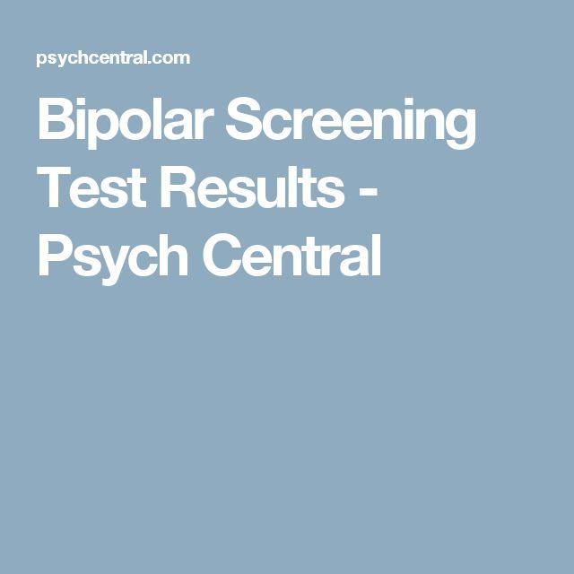 Bipolar Screening Test Results - Psych Central
