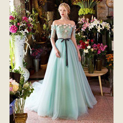 437cbb4530 100%real light ice blue rhinestone flower beading veil medieval ...