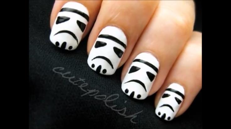 DONEE!!!!Stormtroopers Nails, Darth Vader, Storm Troopers, Nails Art, Storms Troopers, Star Wars, Stars Wars, Nail Art, Starwars