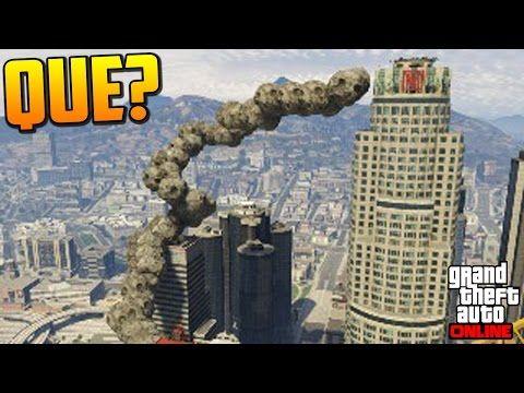 INCREIBLE!! CARRERA DE METEORITOS!!! - Gameplay GTA 5 Online Funny Moments (Carrera GTA V PS4) - YouTube