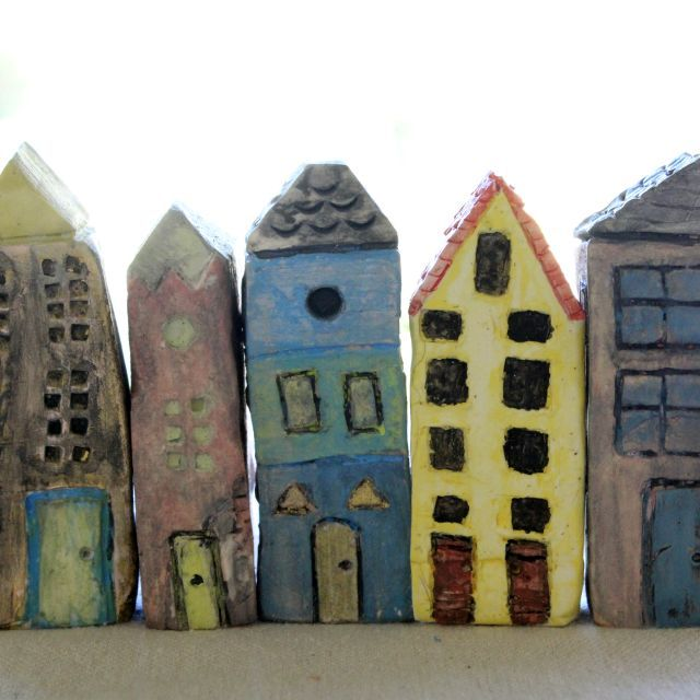 Miniature Ceramic Art Houses