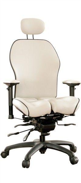 LIFEFORM Core-flex Brezza Chair in Ultraleather White.