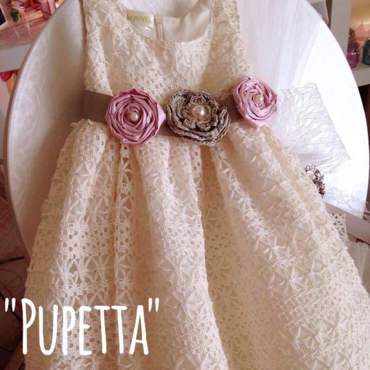 """Βαπτιστικό φόρεμα """"Pupetta"""" θα τα βρείτε στο κατάστημά μας Ελ. Βενιζέλου 131, Νέα Ιωνία www.nikolas-ker.gr & σε επιλεγμένα καταστήματα σε όλη την Ελλάδα."""