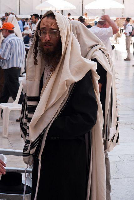 Time for prayer at the Wailing Wall. Jerusalem, Israel. (V)
