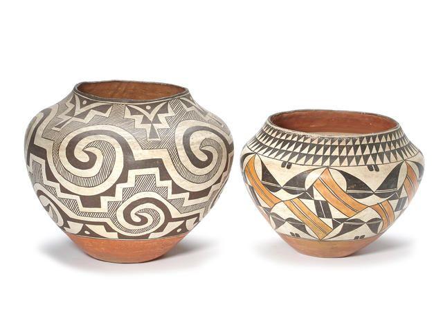 Two Acoma jars