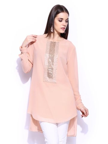 RGRK by Rohit Gandhi + Rahul Khanna Women Nude-Coloured Long & Short Tunic