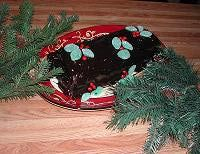 Chocolate Yule Log - made with a cake mix and homemade frosting