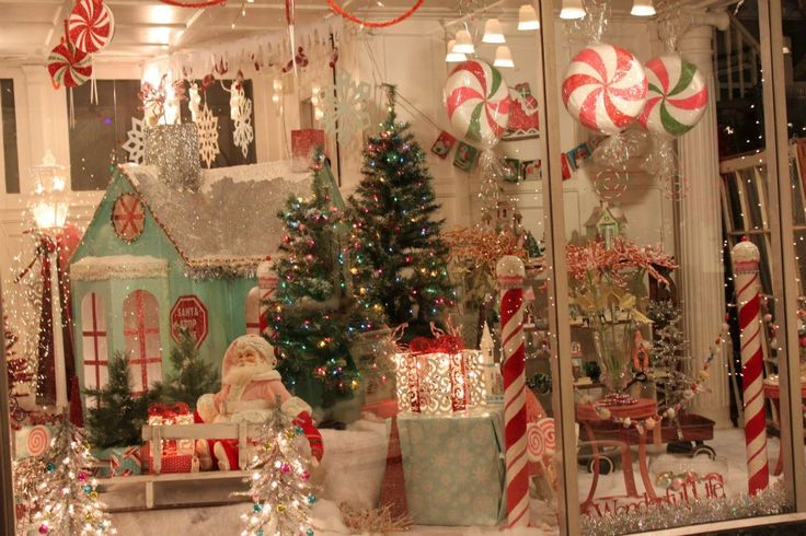 A Peppermint Christmas display.                                                                                                                                                                                 More