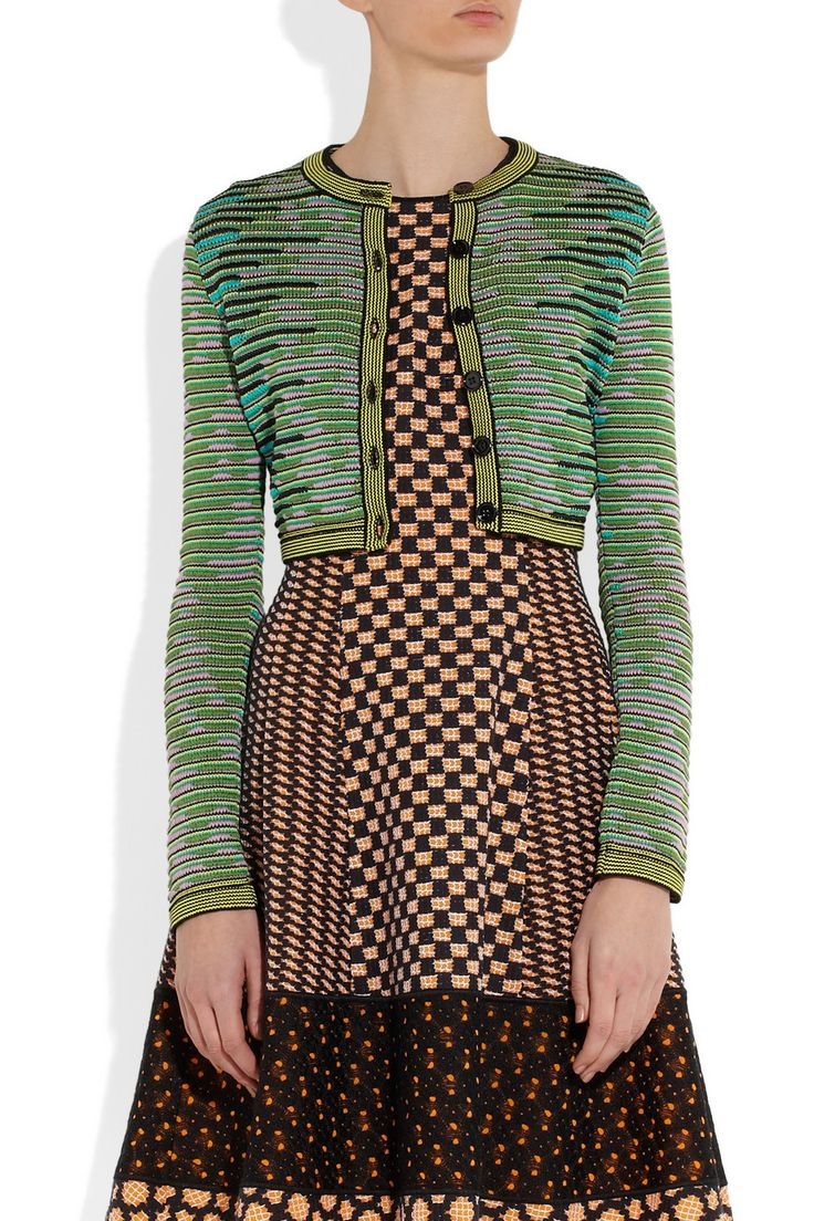 M Missoni   Cropped cotton-blend crochet-knit cardigan    NET-A-PORTER.COM