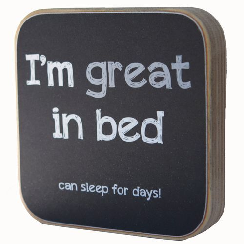 Zoedt Houten tekstblok I'm great in bed