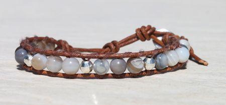 Da Costa Botswan Agate Single Wrap Bracelet