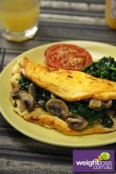 Soufflé Omelette Recipe. #HealthyRecipes #DietRecipes  #WeightLossRecipes weightloss.com.au