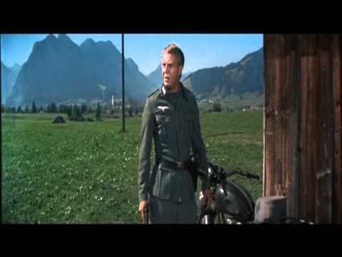 Motorcycle scene- The Great Escape, 1963, Steve McQueen - YouTube