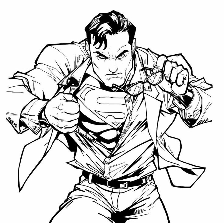 1000 images about superman coloring on pinterest for Super man coloring page