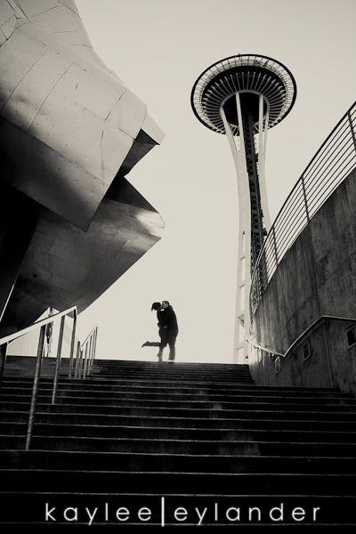 space needle / emp engagment session | Kaylee Eylander photography | Seattle Wedding Photographers