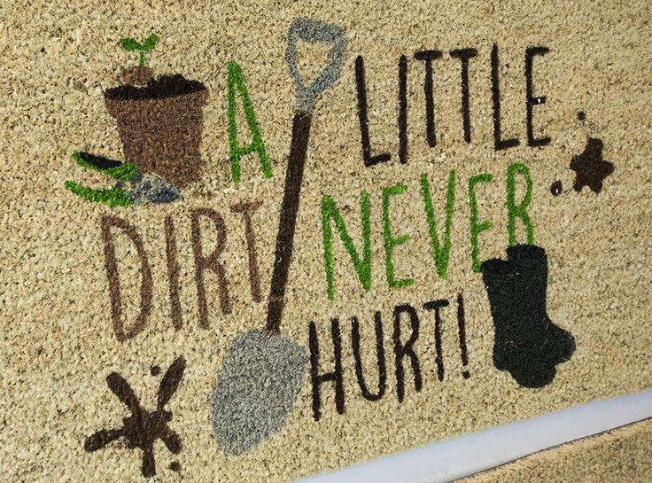 Pro kutily - rohožka z kokosového vlákna #aLittleDirtNeverHurt #doormat #rohozka