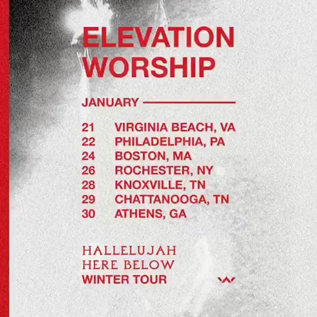 Hallelujahherebelow Tour Elevationworship Tours Virginia Beach