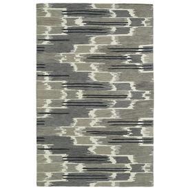 Kaleen Global Inspiration Grey Rectangular Indoor Handcrafted Southwestern Throw Rug (Common: 2 X 3; Actual: 2-Ft W X 3-