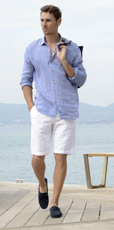 Top 5 Looks For The Exclusive Yacht Parties Of This Summer Season Linen Shirt Men White Linen Shirt Men Mens Summer Outfits [ 1313 x 653 Pixel ]