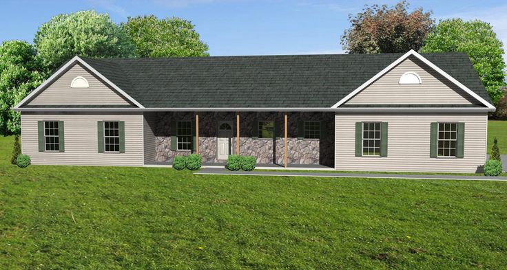 Architectural styles ranch house is long and is only one for Long ranch house plans