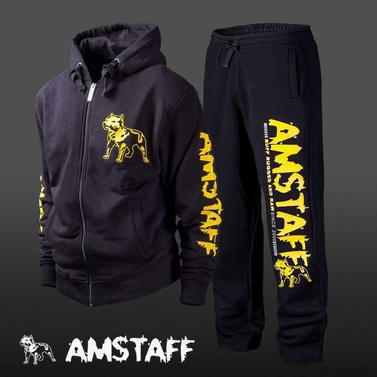 Tepláková souprava AMSTAFF Logo zip black/yellow