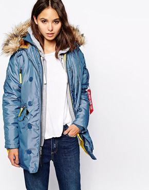 Enlarge Alpha Industries PPS N3B Jacket With Faux Fur Hood