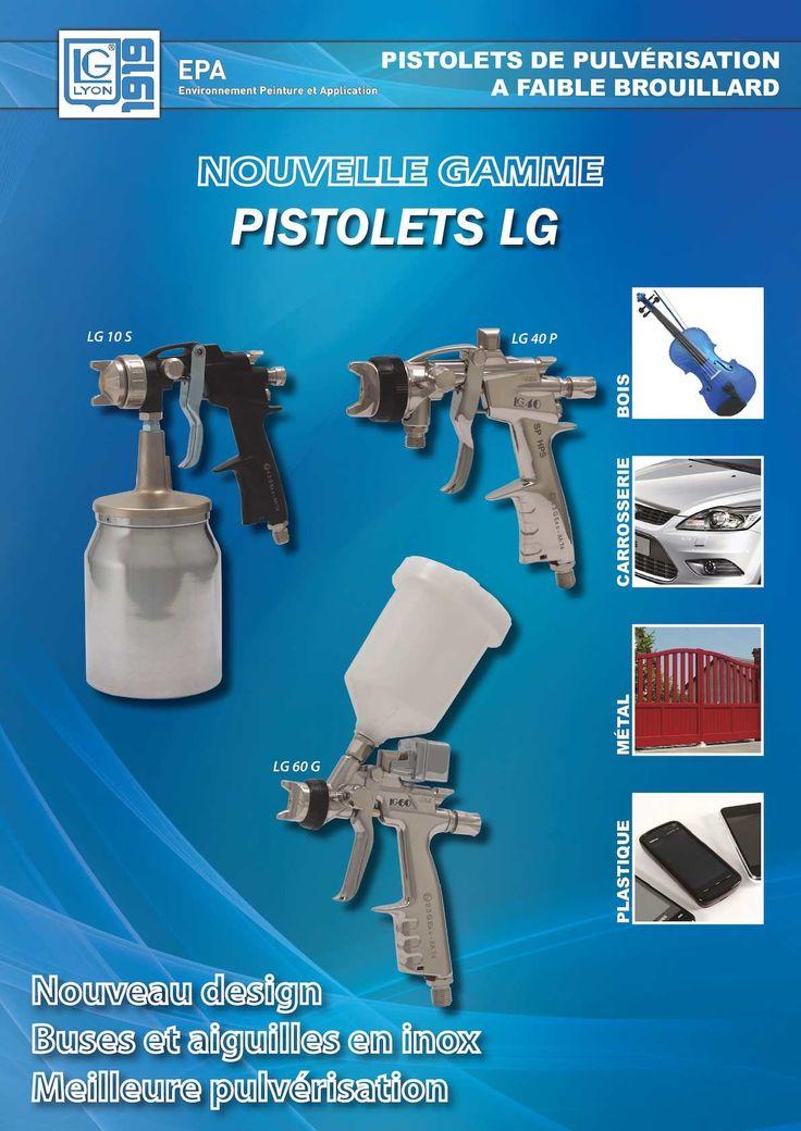 La gamme des nouveaux pistolets LG a été créée avec le souci du confort du peintre et avec un objectif environnemental. Tous les pistolets sont conformes aux normes d'efficacité de transfert, supérieure à 65% (certains pistolets...