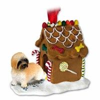 Lhasa Apso Gingerbread House Christmas Ornament Brown Sport Cut: Deck your halls and trim your tree… #PetProducts #PetGifts #AnimalJewelry