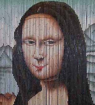 344 best images about mona lisa on pinterest recycled for Mona lisa shower curtain