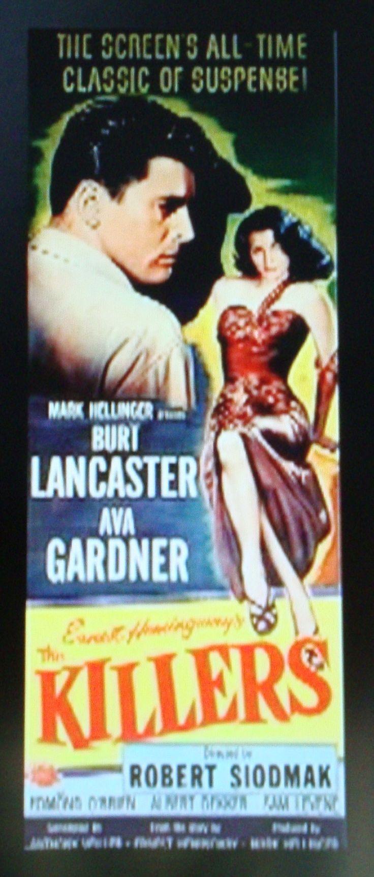 """The Killers""  Film Noir Movie Poster."