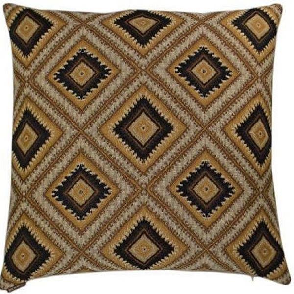 Dakota - Brown Throw Pillow