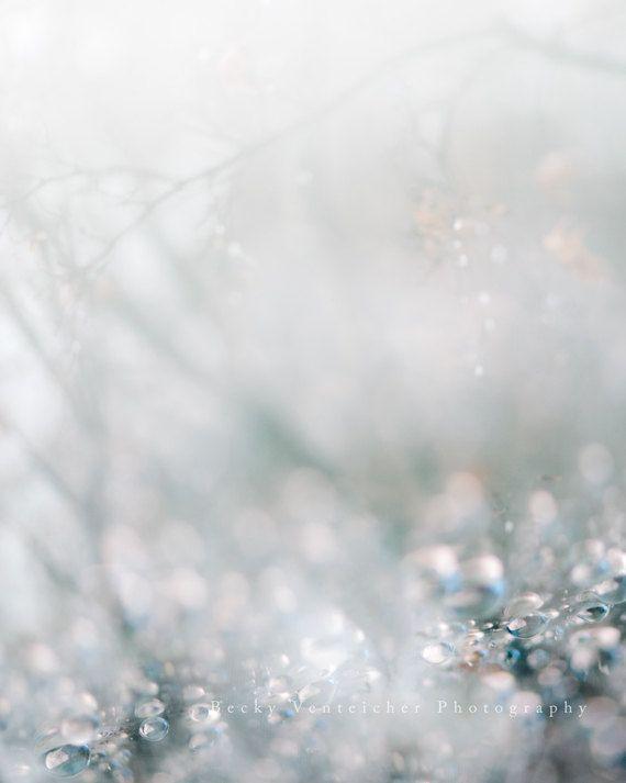 """riflessioni, inverno, gocce di pioggia, finestra, natura, goccioline, arte della parete - 16x20, 11x14 o 8x10 fotografia, """"Riflessioni di inverno"""""""