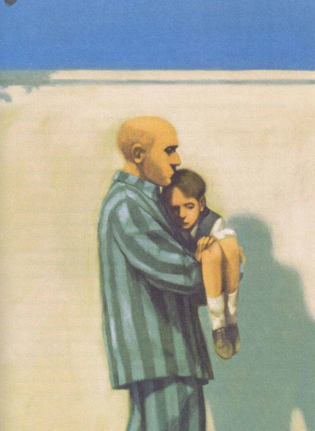 """Gianni de Conno illustration for """"Boy in the Stripped Pyjamas""""."""