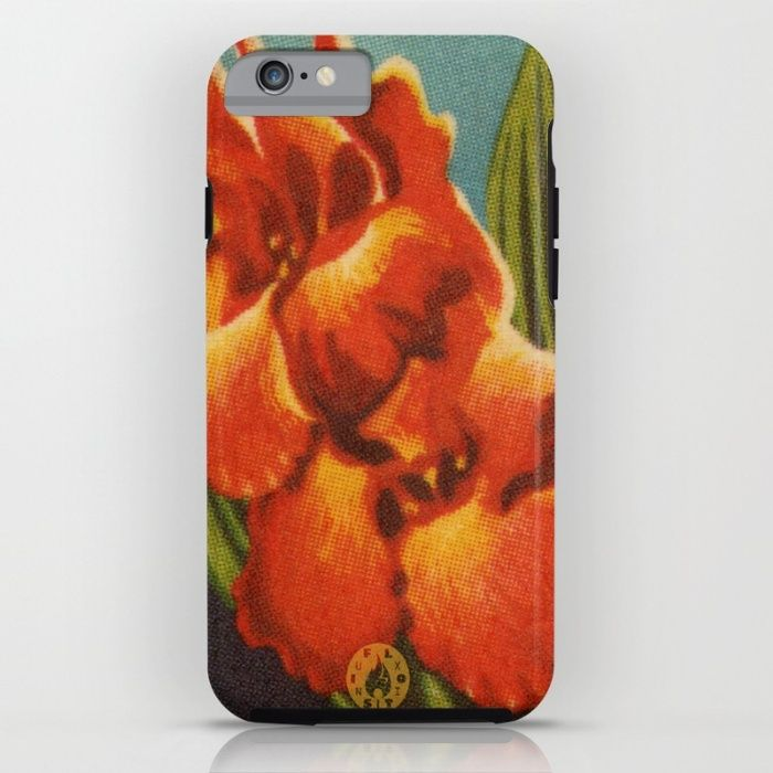 """Red Iris"" iPhone 6s Tough case on Society6."