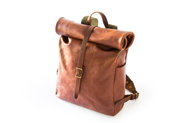 The Roll Top Backpack. 100% Vegetable Tanned Leather by The Whipping Post
