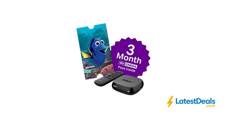 NOW TV Box with 3 Month Sky Cinema Pass *HALF PRICE*, £19.99 at Argos