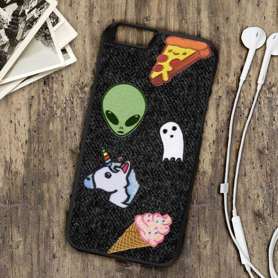 Pizza Alien Unicorn Ice Cream Tumblr Patches On Denim by CaseGoals
