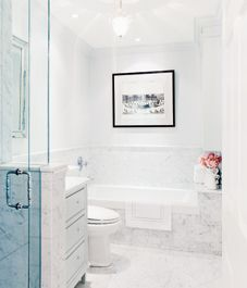 Elegant small bathroom (2 of 2). Small but bright ~ ~ Epi (from StyleatHome)