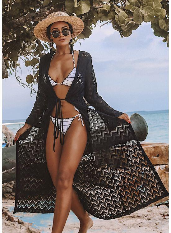Kit Thassia (biquíni ripple soul rio+ Saida de pra... - BIQUINIS POLIANA FINZETTO   Estilo de praia, De praia, Kimono praia