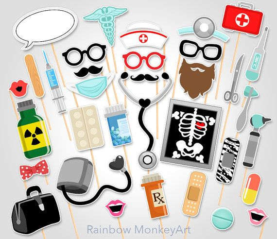 Doctor Party Printable Photo Booth Props por RainbowMonkeyArt                                                                                                                                                                                 Más