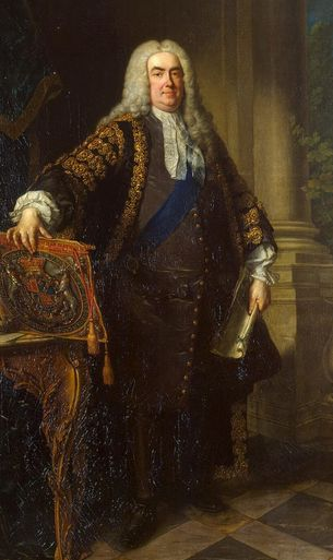 Sir Robert Walpole, de facto first Prime Minister of Great Britain, 1721-42