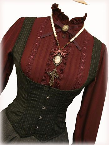 Great corset vest and brown waist cincher on this site