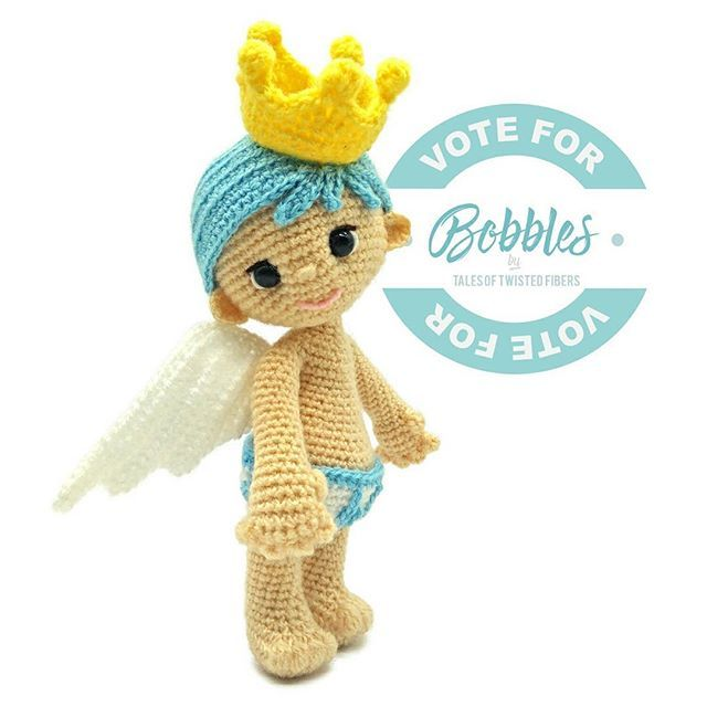 """Little Bobbles needs your help. He's my entry for """"Amigurumi Fantasy Creatures Design Contest"""" organized by @amigurumipatterns. If you find Bobbles cute enough to be among the stars of this contest, could you please take a moment to vote for him at http://www.amigurumipatterns.net/designcontest/vote?id=2598 [the clickable link is in my bio]. Bobbles and I would appreciate it very much if you select him as one of your favorites. Thank you! ❤❤❤ This year, voters also stand to win some amazing…"""