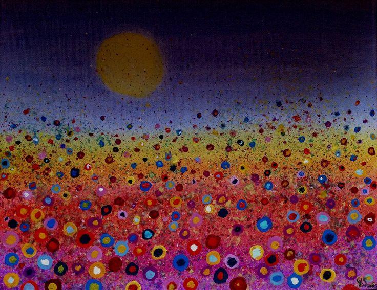 Yvonne Spooner - Summer Sunset £35 Free UK P&P