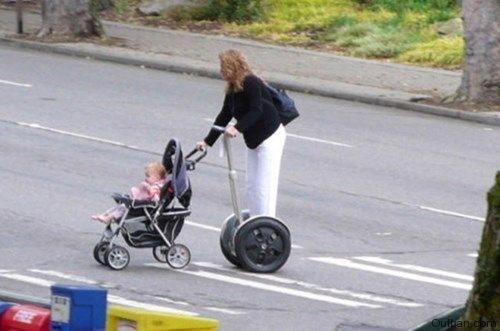 When Mom is Tired of Walking