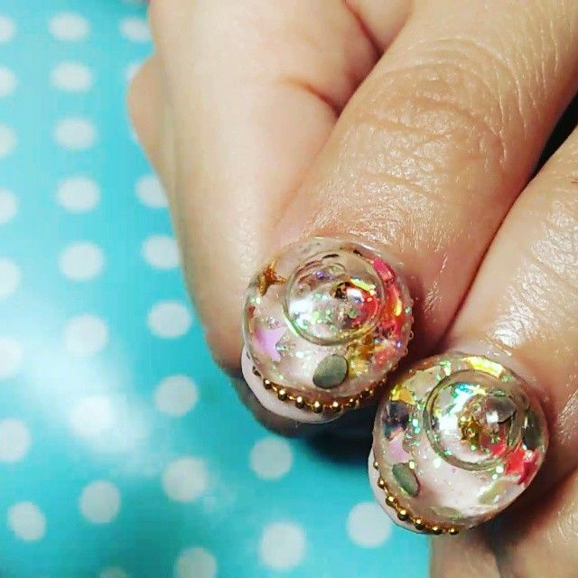 Pin for Later: Snow Globe Nails Are the Newest Wacky and Wonderful Manicure Trend