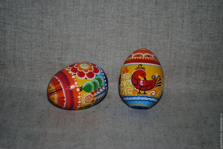 Купить Яйцо с Вятской росписью - комбинированный, яйцо пасхальное, яйцо деревянное, ручная работа, Пасха