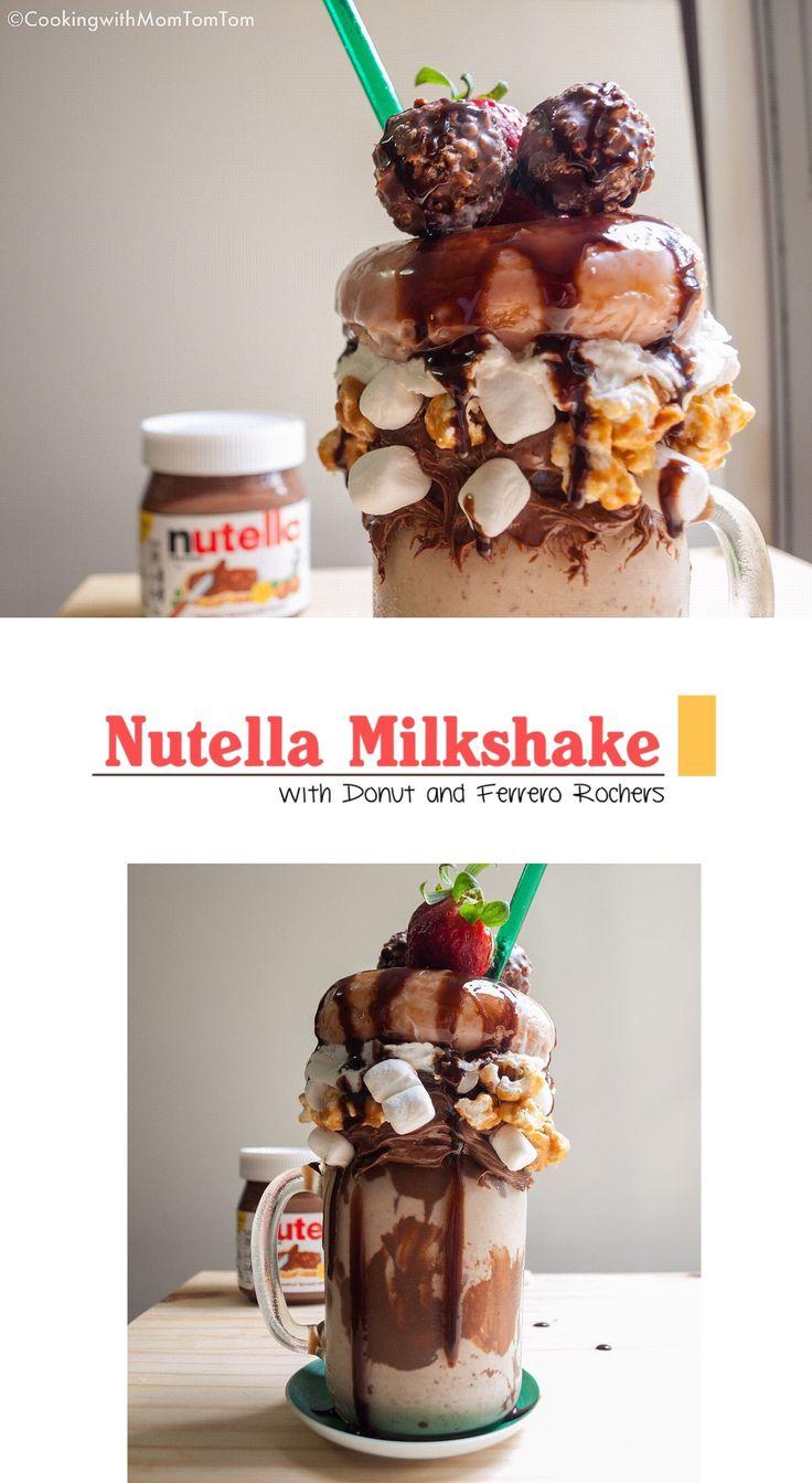5-Min Nutella Milkshake with Krispy Kreme Donut